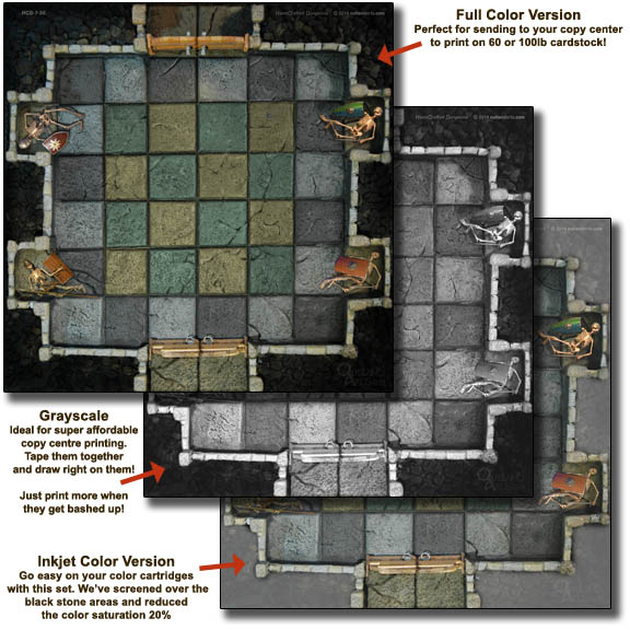image relating to Printable Dungeon Tiles Pdf named Very simple Dungeon Tiles Preset 1 :: Handcrafted Dungeons via Outland
