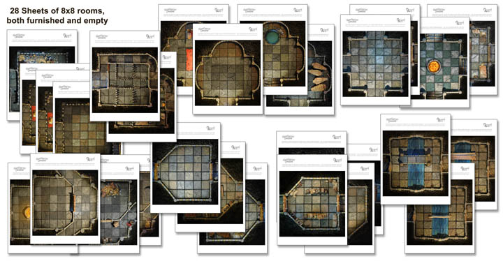 Basic Dungeon Tiles Set 2 :: Handcrafted Dungeons by Outland